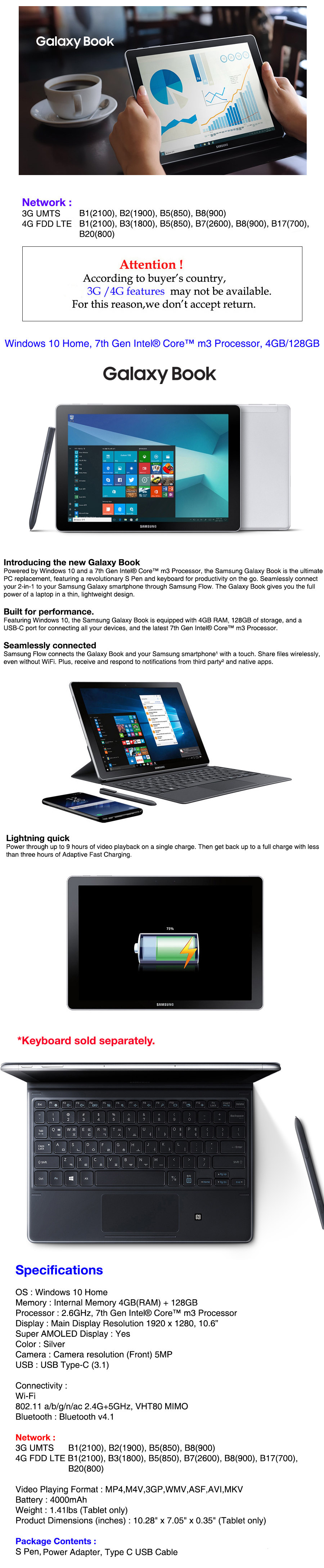 Details about Samsung Galaxy Book 10 6